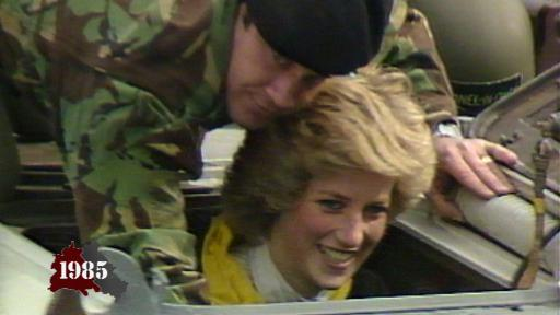 Princess Diana visits Berlin