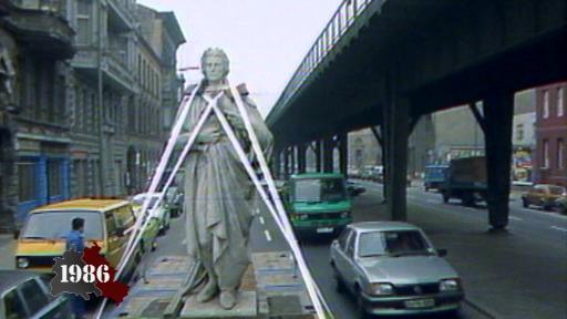 Schiller statue heads East