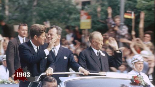 Kennedy und Chruschtschow in Berlin