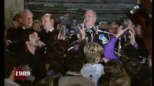 Helmut Kohl at Schöneberg town hall