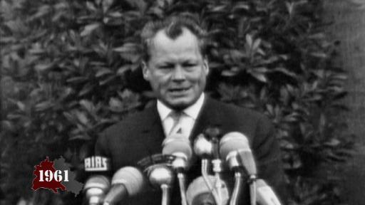 Reaktionen: Brandt und Adenauer zum Mauerbau